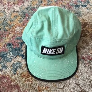 Teal blue Nike SB 5 panel hat